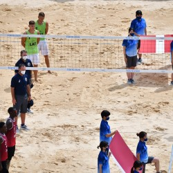 Tokija2020: Pludmales volejbols (Pļaviņš/ Točs). Foto: LOK/ Ilmārs Znotiņš