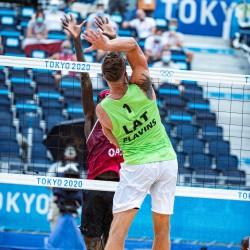 Tokija2020: Pludmales volejbols (Pļaviņš/ Točs). Foto: LOK/ Mikus Kļaviņš